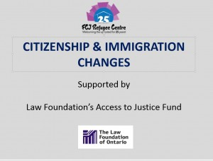 IMMIGRATION CHANGES LAW FOUNDATION