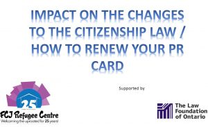 IMPACT ON THE CHANGES TO THE CITIZENSHIP LAW