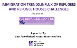 Influx of refugees and challenges