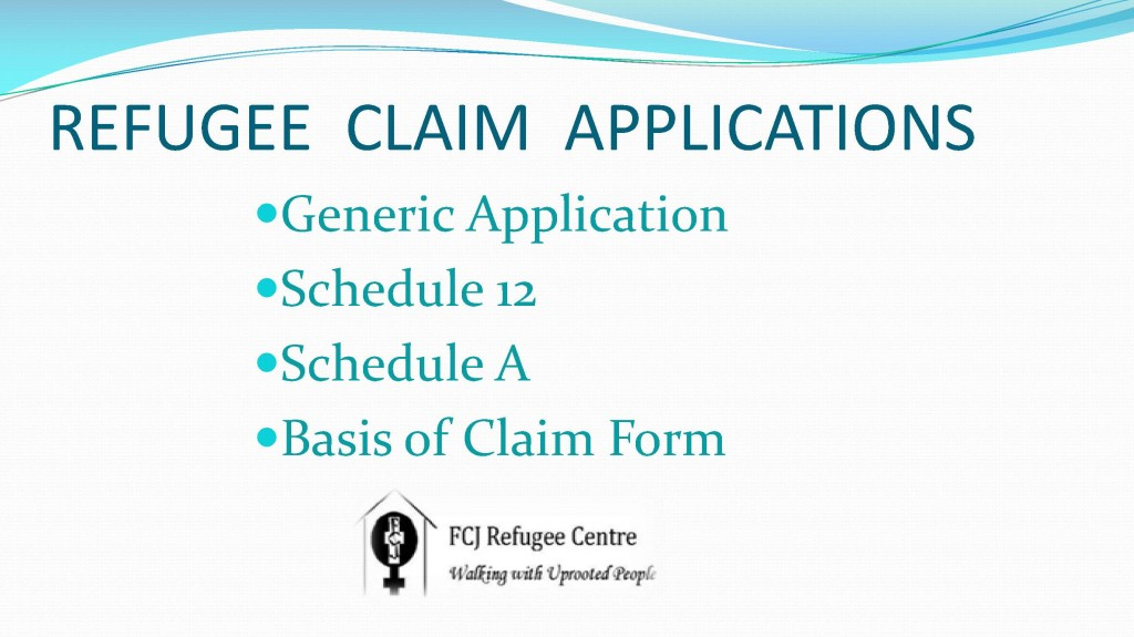 Refugee Claim application