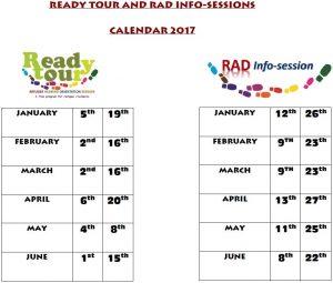 Calendar RT and RAD 2017