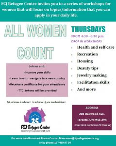 ALL WOMEN COUNT WORKSHOPS