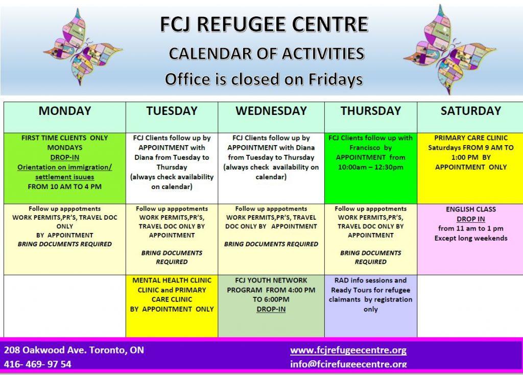 Contact Us – FCJ Refugee Centre